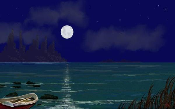 Digital Art - Full Moon by Tony Rodriguez
