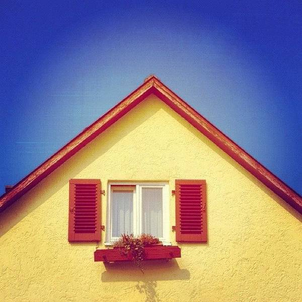 Wall Art - Photograph - Gable Of Beautiful House In Front Of Blue Sky by Matthias Hauser