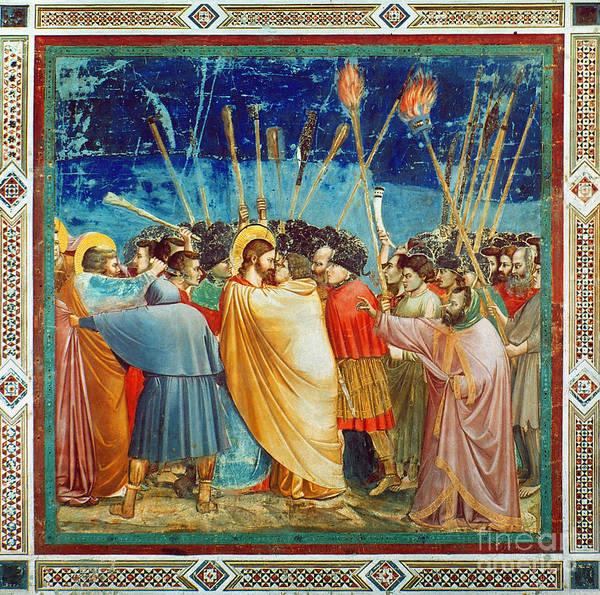 Shofar Wall Art - Photograph - Giotto: Betrayal Of Christ by Granger