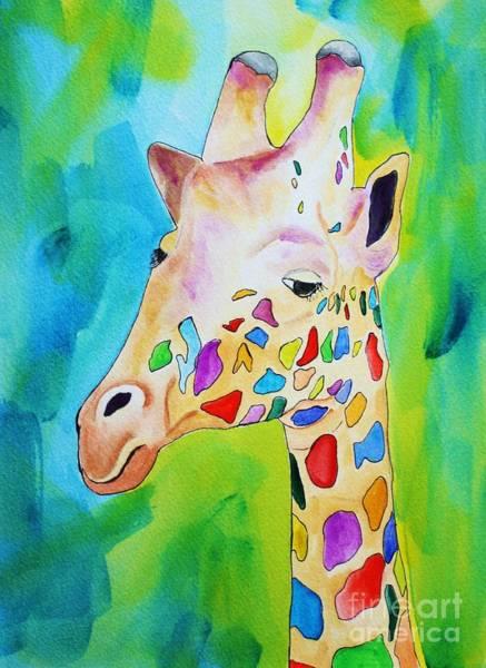 Painting - Giraffe Portrait by Melinda Etzold