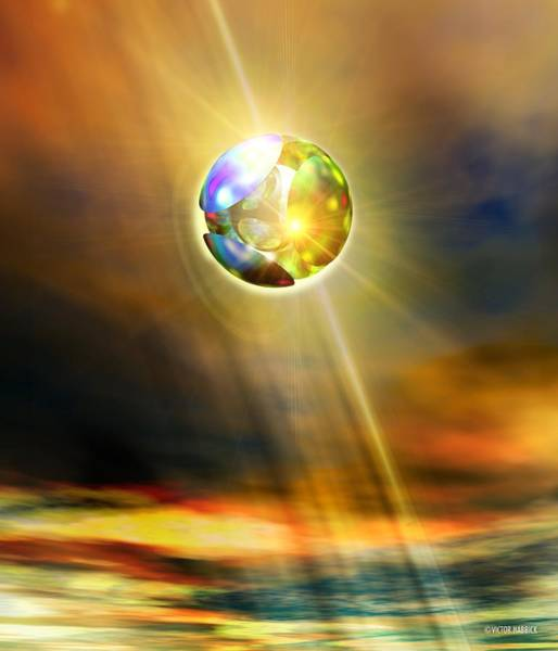 Ufology Photograph - Glowing Ball Ufo by Victor Habbick Visions
