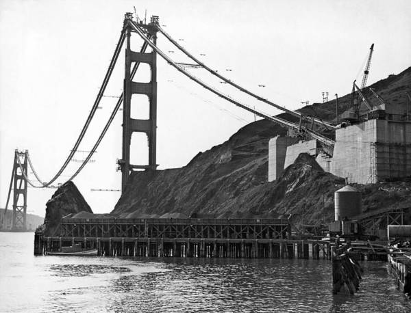 Zazzle Photograph - Golden Gate Bridge Work by Underwood Archives