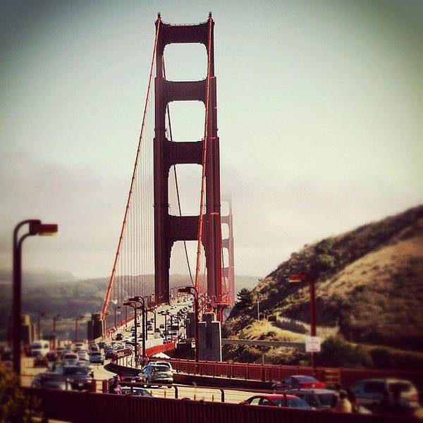 Road Photograph - Golden Gate by Luisa Azzolini