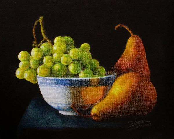 Filipino Drawing - Grapears by Bleuie  Acosta