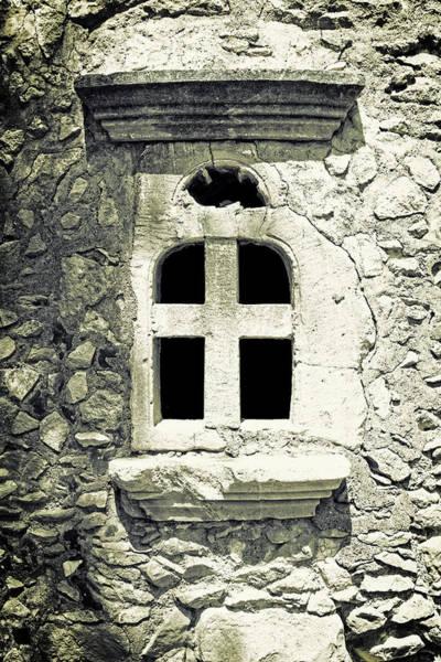 Window Pane Photograph - Greek Chapel by Joana Kruse