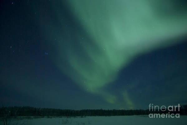 Yellowknife Wall Art - Photograph - Green Aurora Above Far Lake by Yuichi Takasaka