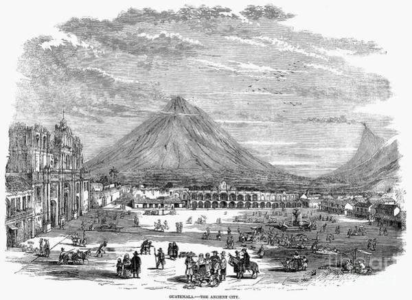 Photograph - Guatemala City, 1856 by Granger