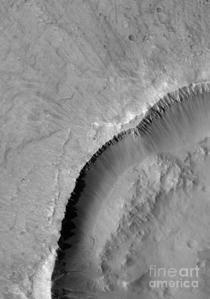 Gully Photograph - Gullies On Mars by Nasa