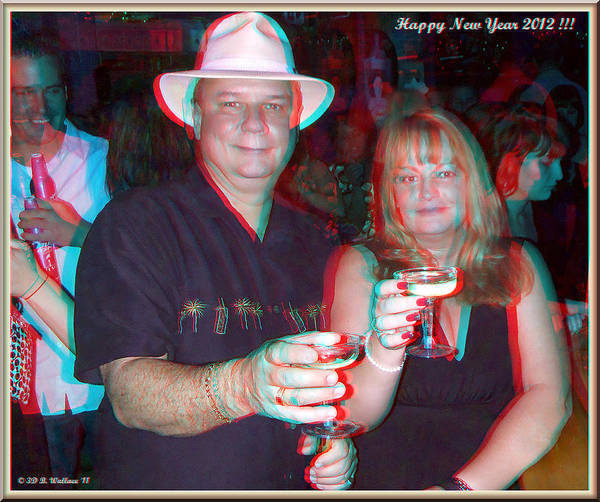 Anaglyph Photograph - Happy New Year by Brian Wallace