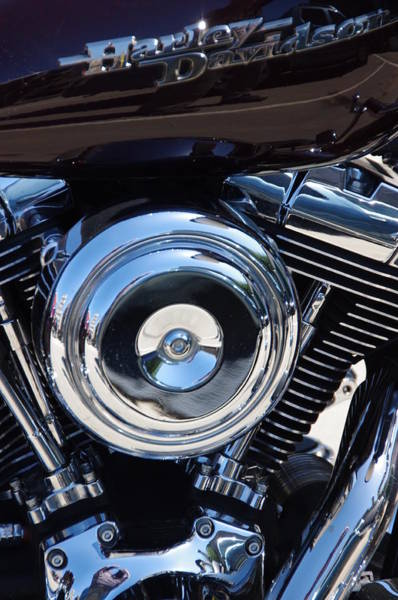 Photograph - Harley Engine by Jeff Lowe