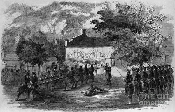 Harper Lee Wall Art - Photograph - Harpers Ferry Insurrection, 1859 by Photo Researchers