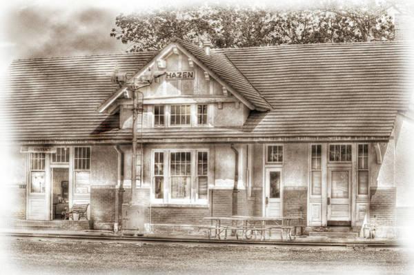 Photograph - Hazen Train Depot by Barry Jones