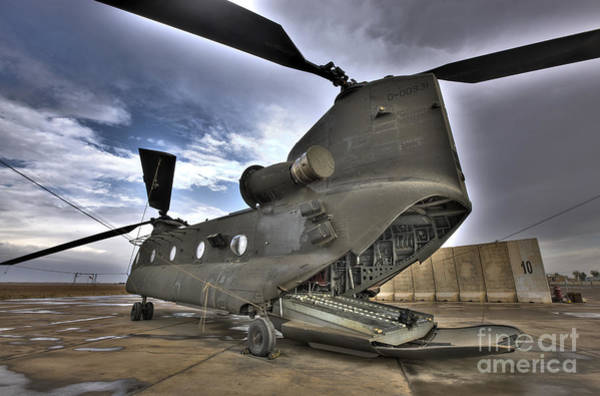 Photograph - High Dynamic Range Image Of A Ch-47 by Terry Moore