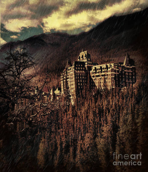 Photograph - Historical Banff Springs Hotel In The Rockies by Sandra Cunningham