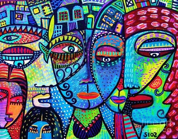 Painting - House Of Love And Diversity by Sandra Silberzweig