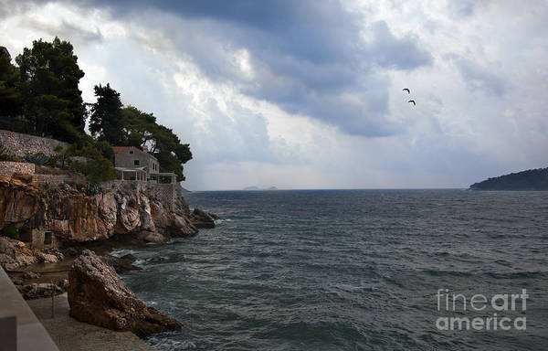 Wall Art - Photograph - House On The Edge In Dubrovnik by Madeline Ellis