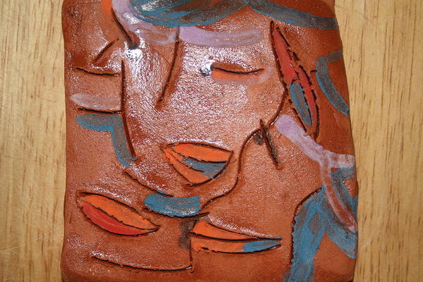 Ceramic Art - Hugs - Tile by Gloria Ssali