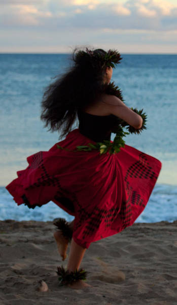Hula Wall Art - Photograph - Hula Dancer by James Roemmling