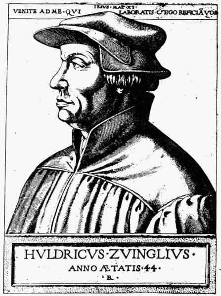 Asps Photograph - Huldreich Zwingli by Granger