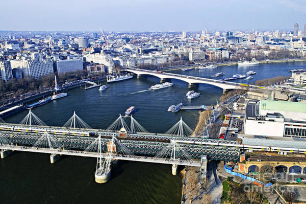 Wall Art - Photograph - Hungerford Bridge Seen From London Eye by Elena Elisseeva