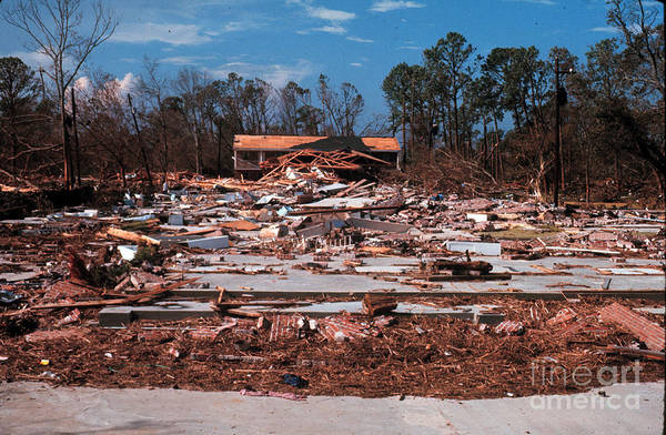 Wall Art - Photograph - Huricane Camille Damage, 1969 by Science Source