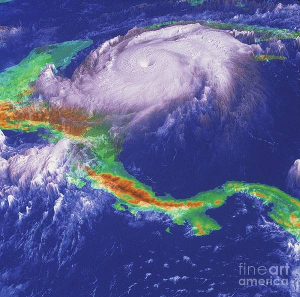 Wall Art - Photograph - Hurricane Mitch by NASA / Goddard Space Flight Center