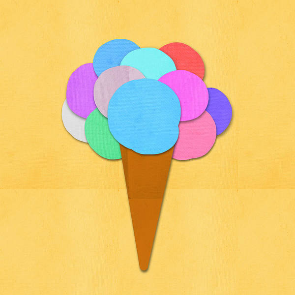 Summer Digital Art - Ice Cream On Hand Made Paper by Setsiri Silapasuwanchai