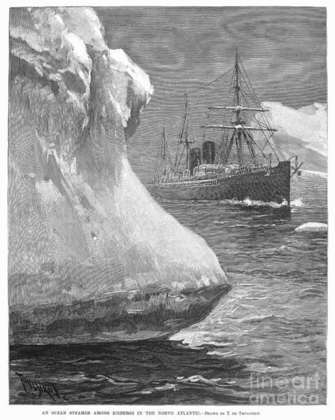 Photograph - Iceberg, 1890 by Granger