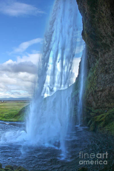 Photograph - Iceland Waterfall Seljalandsfoss 02 by Gregory Dyer