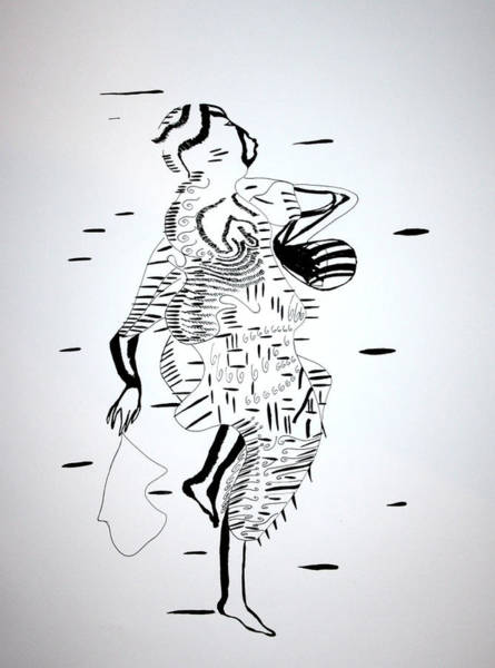 Drawing - Igbo Dance - Nigeria by Gloria Ssali