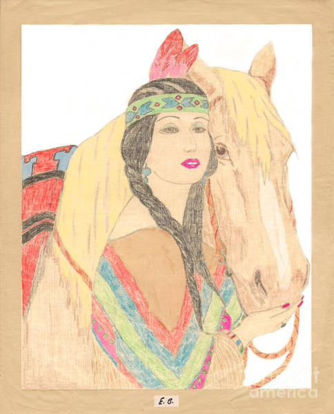 Photograph - Indian Princess And Horse by Donna L Munro