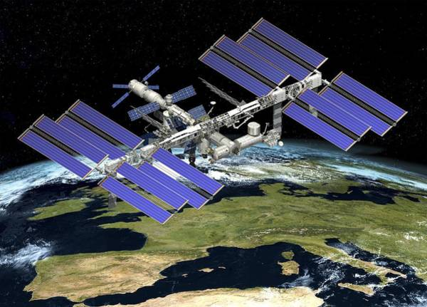 Atv Photograph - International Space Station, Artwork by David Ducros