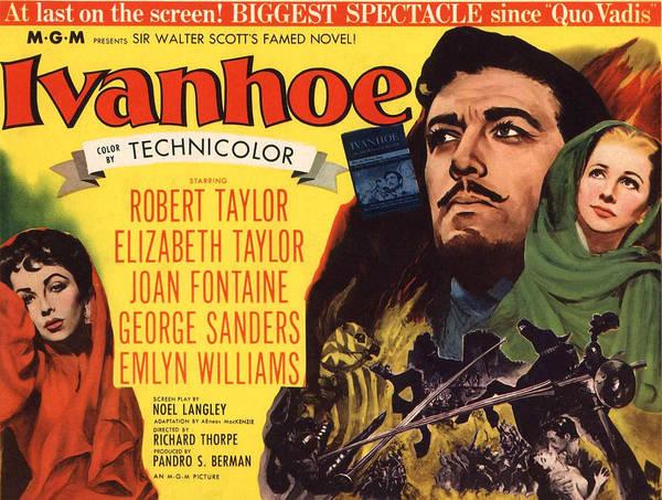 Ivanhoe Photograph - Ivanhoe, Elizabeth Taylor, Robert by Everett