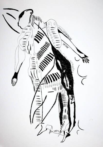Drawing - Ivory Coast Dance by Gloria Ssali