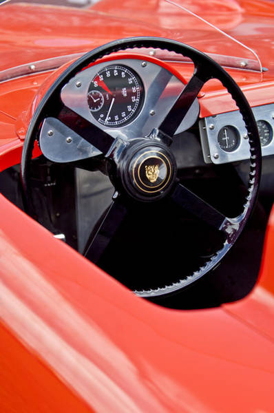 Photograph - 1957 Jaguar Cozzi Special Steering Wheel -0613c by Jill Reger