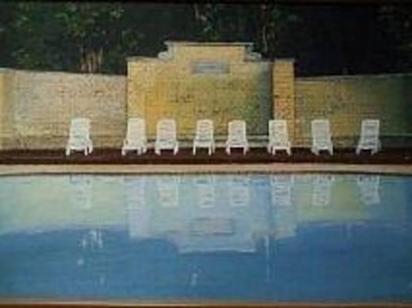 Jekyll Island Painting - Jekyll Island Hotel Pool by John Cecil Smith