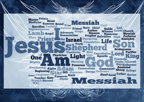 Redeemer Wall Art - Digital Art - Jesus Messiah 2 by Angelina Tamez