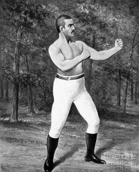Photograph - John L. Sullivan (1858-1918) by Granger