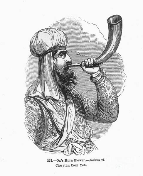 Shofar Wall Art - Photograph - Judaism: A Shofar by Granger
