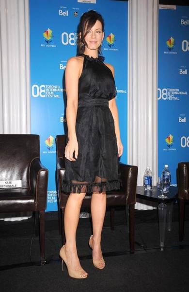 But Photograph - Kate Beckinsale At The Press Conference by Everett