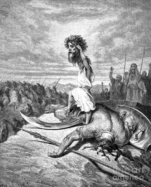 B B King Drawing - King David by Gustave Dore