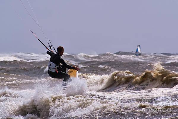 Wall Art - Photograph - Kite Surfing by Wedigo Ferchland