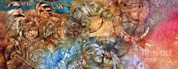 Wall Art - Mixed Media - Knights by Svetlana and Sabir Gadghievs