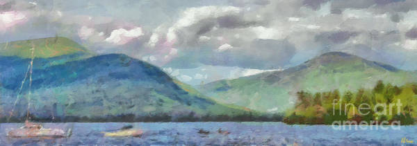Adirondack Mountains Painting - Lake George New York In Summer by Anne Kitzman