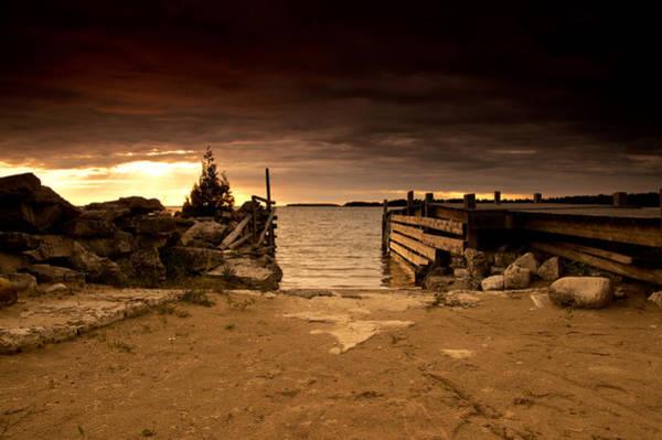 Huron Wall Art - Photograph - Lake Huron Dock by Cale Best