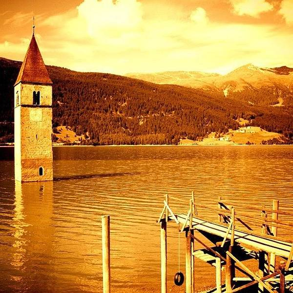 Italy Wall Art - Photograph - Lake Of Resia by Luisa Azzolini