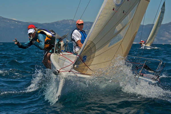 Photograph - Lake Tahoe Sailboat Racing by Steven Lapkin