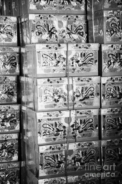 Chinese New Year Photograph - Large Paper Imitation Gift Wrapped Presents Which Can Be Burned As Offerings To The Dead by Joe Fox