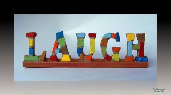 Mixed Media - Laugh by Cynthia Amaral