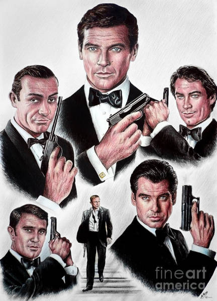 Nostalgia Drawing - Licence To Kill by Andrew Read